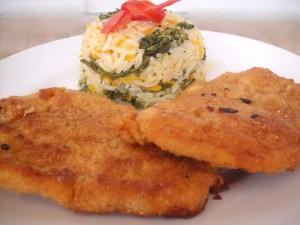 Bife de frango à milanesa
