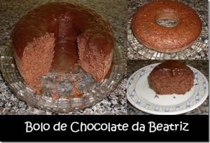 Bolo de Chocolate da Beatriz. Lembram?