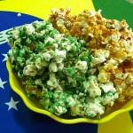 Pipoca Caramelizada Verde e Amarela – É Hexa!!!