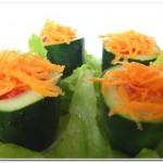 Salada Diferente de Pepino, Tomates e Alface
