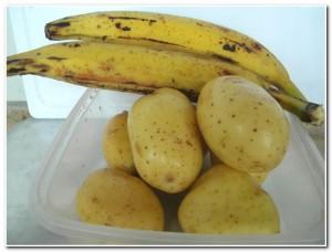 Acompanhamento de Banana da Terra e Batata