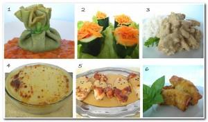 comidas para um jantar especial