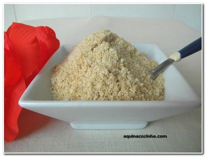Farofa doce de gergelim (Fufu)