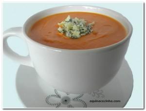 Sopa Cremosa de Abóbora com Gorgonzola