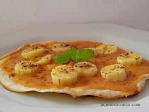 Pizza de frigideira_doce de leite e banana