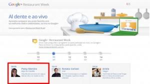 Convite para o hangout: Google + Restaurant Week