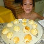 Pão de Minuto feito pelo Lucas