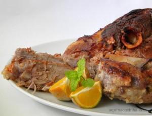 carne de porco assada