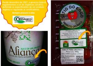 alimento com selo organico