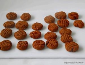 Biscoito integral feito com aveia e amendoim