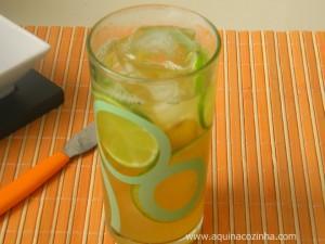 Chá Verde com Laranja, Limão e Gengibre