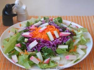 Receita de Salada com Kani-Kama
