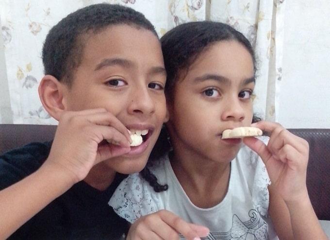 Biscoito da Titia, feito pelo Eliel e pela Rafa