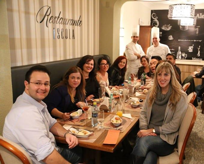 Jantar especial no Restaurante-Escola Senac, em Blumenau