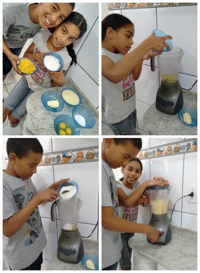 Bolo de milho com leite condensado e coco